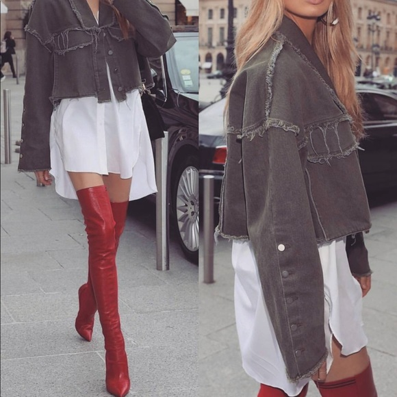 d6509fe52d2 River Island thigh high red leather boots. M 5a5e58ed36b9decf205ac6e9.  Other Shoes ...